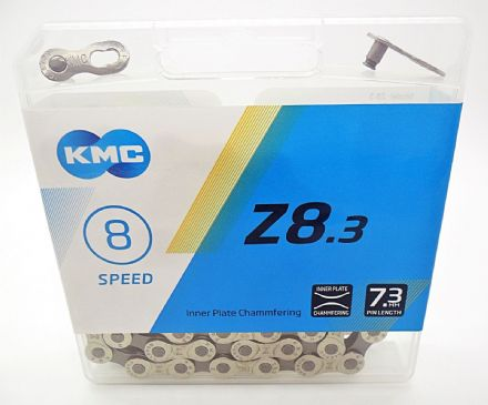 KMC Z8.3 Half Nickel Plated Bike Chain 6 - 12 - 18 - 21 - 24 Speed Cycle - 7.3mm